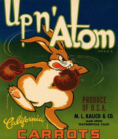 Art Prints of |Art Prints of 083 Upn' Adam Carrots, Fruit Crate Labels