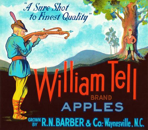Art Prints of |Art Prints of 087 William Tell Apples, Fruit Crate Labels