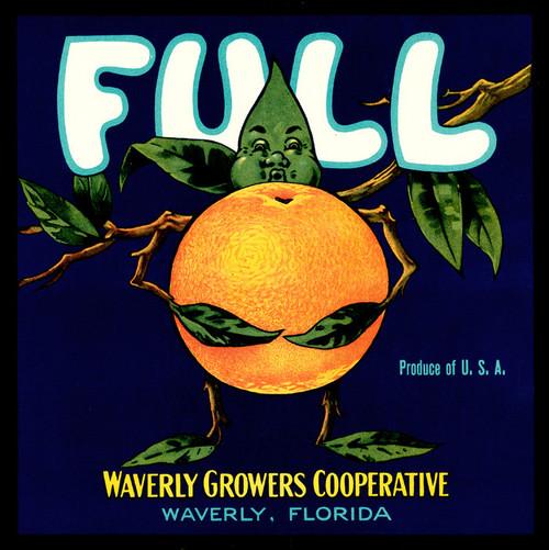 Art Prints of  Art Prints of 090 Full Oranges, Fruit Crate Labels