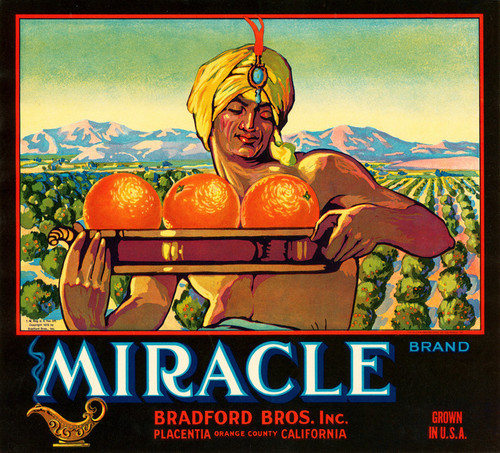 Art Prints of |Art Prints of 086 Miracle Brand, Fruit Crate Labels