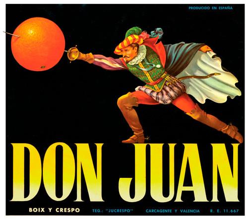 Art Prints of  Art Prints of 099 Don Juan, Fruit Crate Labels