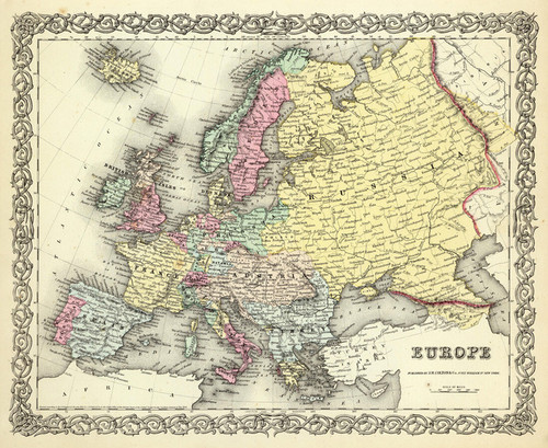 Art Prints of |Art Prints of Europe, 1856 (0149069) by G.W. Colton