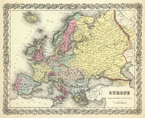 Art Prints of |Art Prints of Europe, 1856 (0149069) by G.W. Colton