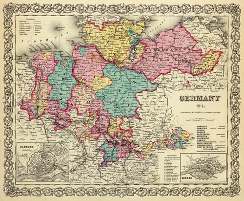 Art Prints of |Art Prints of Germany, No. 1, 1856 (0149079) by G.W. Colton