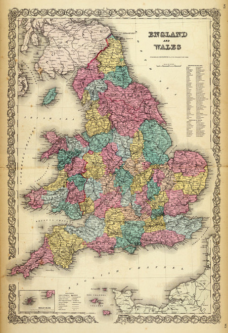 Art Prints of |Art Prints of England, Wales, 1856 (0149070) by G.W. Colton