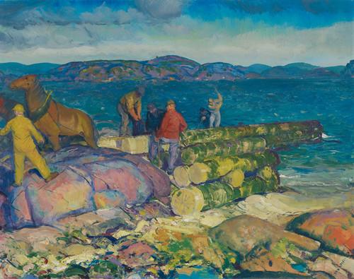 Art Prints of |Art Prints of Dock Builders by George Bellows