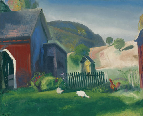 Art Prints of |Art Prints of Barnyard and Chickens by George Bellows