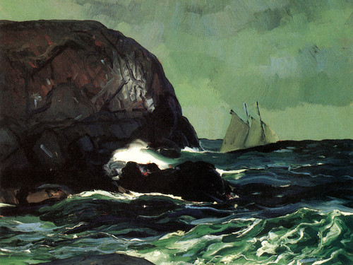 Art Prints of  Art Prints of Beating Out to Sea by George Bellows