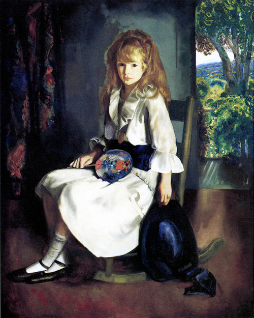 Art Prints of |Art Prints of Anne in White, 1920 by George Bellows