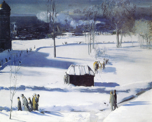 Art Prints of  Art Prints of Blue Snow, the Battery by George Bellows