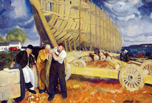 Art Prints of |Art Prints of Builders of Ships or The Rope by George Bellows