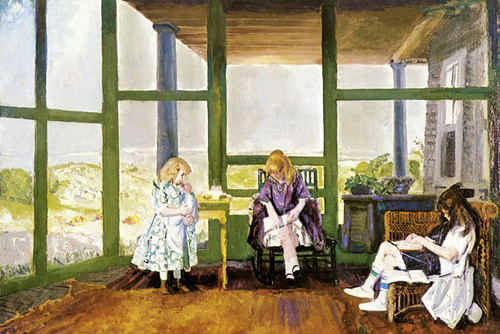 Art Prints of |Art Prints of Children on the Porch by George Bellows
