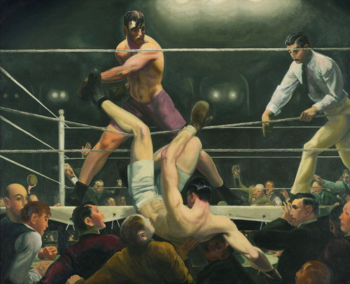 Art Prints of |Art Prints of Dempsey and Firpo by George Bellows
