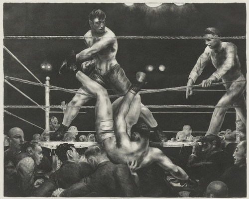 Art Prints of |Art Prints of Dempsey and Firpo, Lithograph by George Bellows