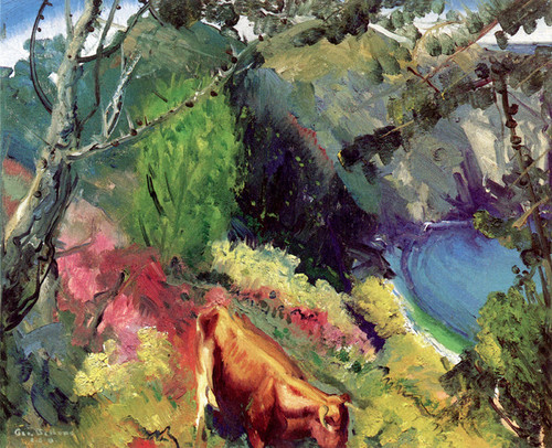 Art Prints of |Art Prints of Cow and Pool by George Bellows