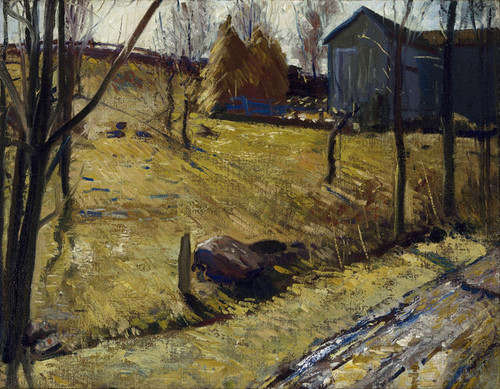 Art Prints of |Art Prints of Haystacks and Barn by George Bellows