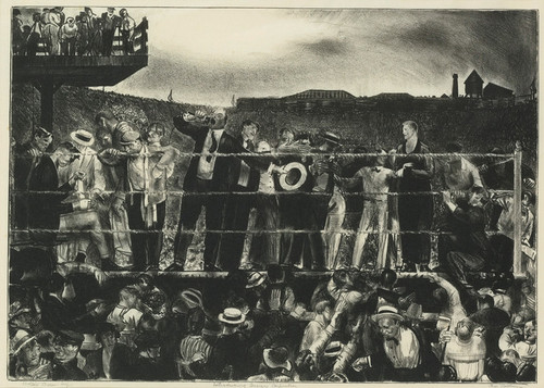 Art Prints of |Art Prints of Introducing George Carpentier Mason by George Bellows