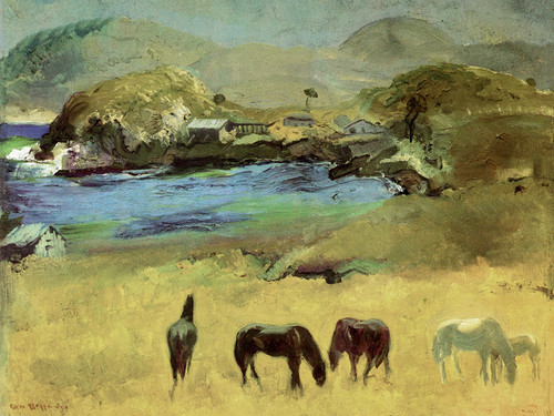 Art Prints of |Art Prints of Horses Carmel by George Bellows