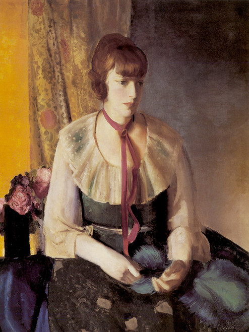 Art Prints of  Art Prints of Lady in Green Dress by George Bellows