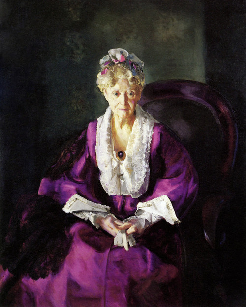 Art Prints of |Art Prints of Mrs. T in Wine Silk by George Bellows
