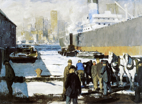 Art Prints of |Art Prints of Men of the Docks by George Bellows