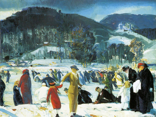 Art Prints of |Art Prints of Love of Winter by George Bellows