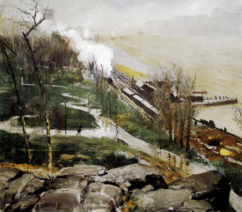 Art Prints of |Art Prints of Rain on the River by George Bellows