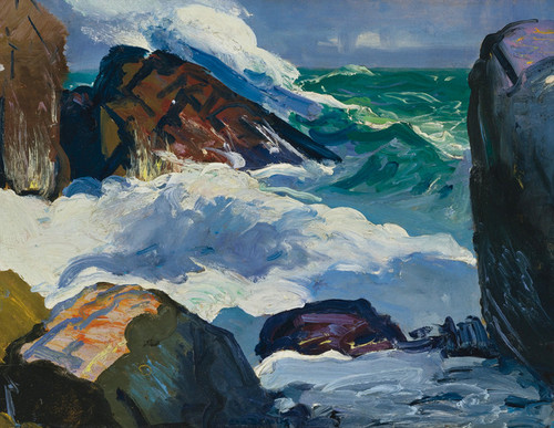Art Prints of |Art Prints of Sunlit Surf by George Bellows
