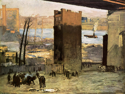 Art Prints of The Lone Tenement by George Bellows