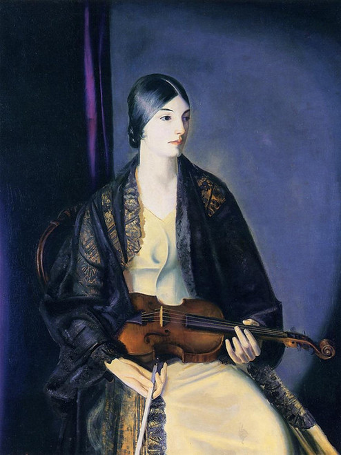 Art Prints of The Violinist, Leila Kalman by George Bellows