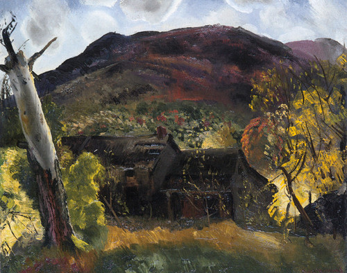 Art Prints of Blasted Tree and Deserted House, 1920 by George Bellows