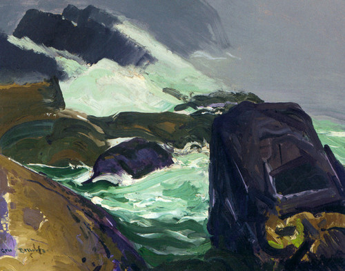 Art Prints of Rock Bound by George Bellows