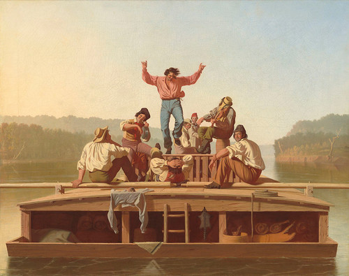 Art Prints of The Jolly Flatboatmen by George Caleb Bingham