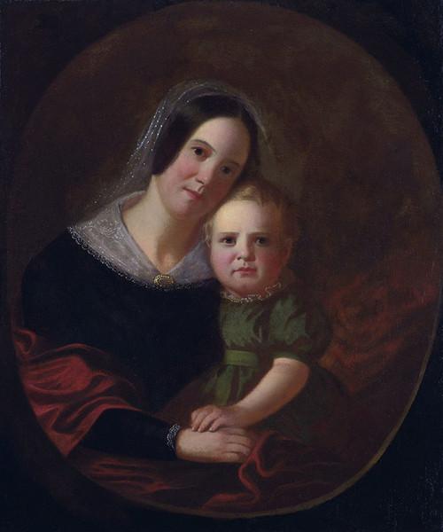 Art Prints of Sarah Elizabeth Hutchison and Son Newton by George Caleb Bingham