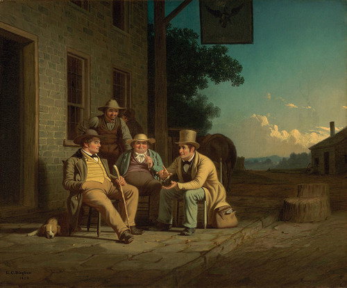 Art Prints of Canvassing for a Vote by George Caleb Bingham
