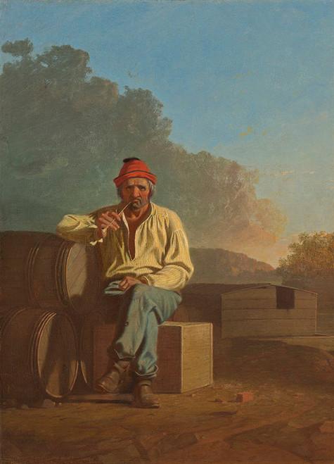 Art Prints of Mississippi Boatman by George Caleb Bingham