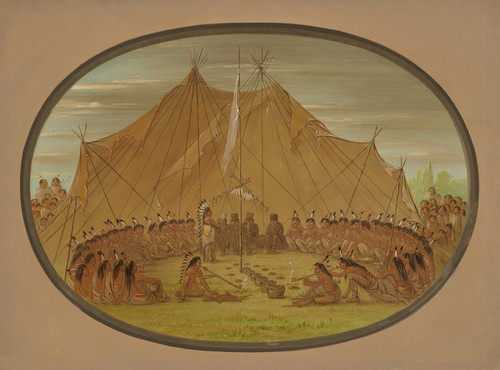 Art Prints of A Dog Feast Sioux by George Catlin