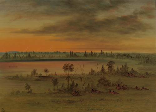 Art Prints of A Sioux War Party by George Catlin