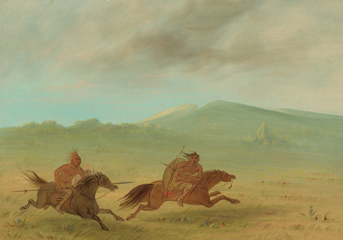 Art Prints of An Osage Indian Pursuing a Camanchee by George Catlin