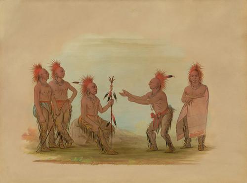 Art Prints of Black Hawk and the Prophet Saikie by George Catlin