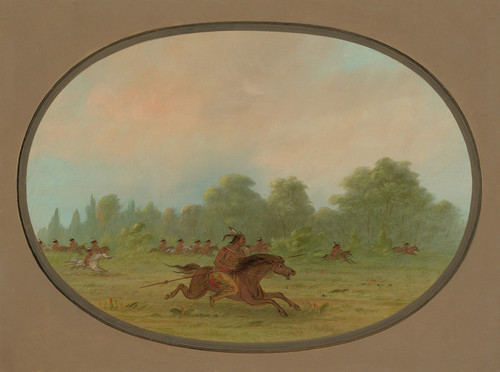 Art Prints of Defile of a Camanchee War Party by George Catlin