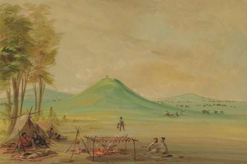 Art Prints of Expedition Encamped on a Texas Prairie April 1686 by George Catlin