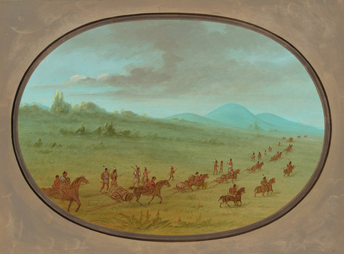 Art Prints of Halseys Bluff Sioux Indians on the March by George Catlin