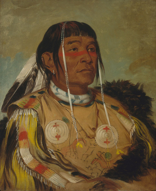 Art Prints of Sha Co Pay the Sixth Chief of the Plains Ojibwa by George Catlin