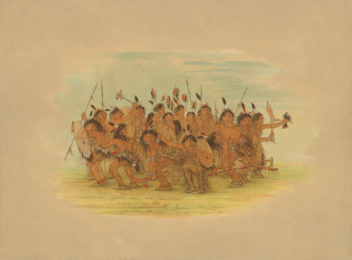 Art Prints of Scalp Dance Sioux by George Catlin