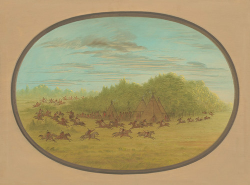 Art Prints of Sham Fight of the Camanchees by George Catlin