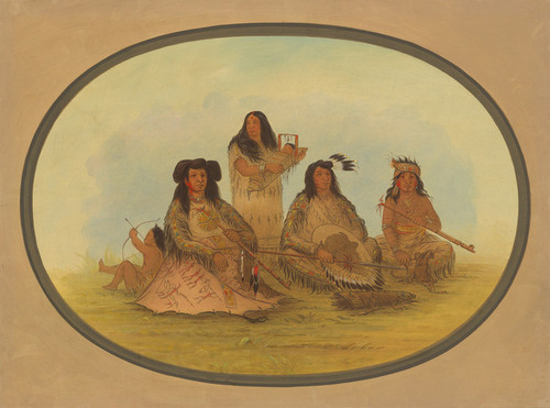 Art Prints of The Sioux Cheif with Several Indians by George Catlin