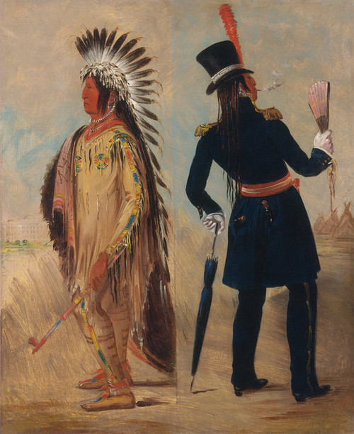 Art Prints of Wi Jun Jon Going To and Returning from Washington by George Catlin