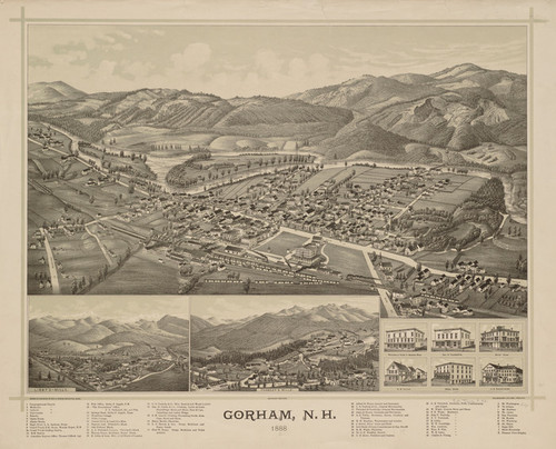 Art Prints of New Hampshire, 1888 by George E. Norris