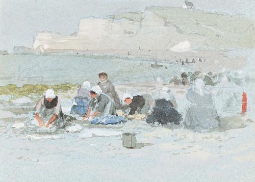 Art Prints of Washerwomen on the Etretat by George Henry Boughton